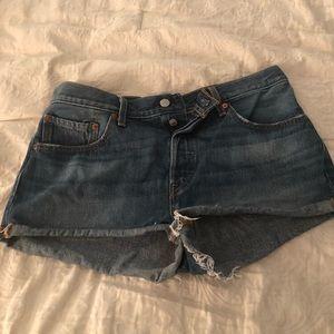 Levi 501 Cutoff Denim Shorts Sz 31